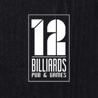 "Логотип КЛУБ ""12"" / Бар / Бильярд"