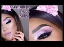 Maquillaje en ROSA MALVA dramatico Dramatic Pink Mauve makeup tutorial | auroramakeup