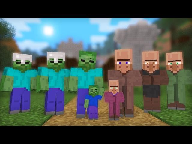 майнкрафт жители vs зомби #10