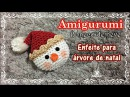 Boneco de neve amigurumi enfeite de natal Renata Vieira