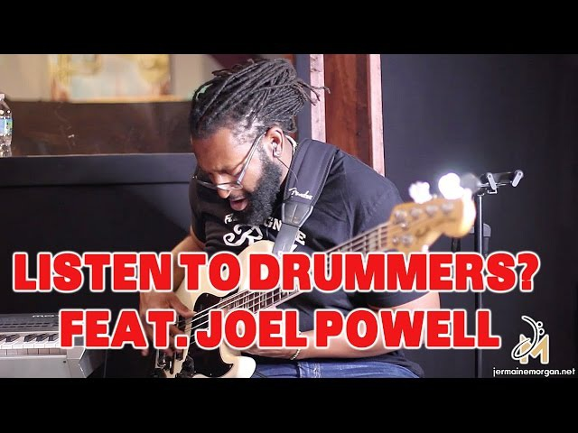 LISTEN TO DRUMMERS FEAT JOEL POWELL- JERMAINE MORGAN TV EP.18 - BASS TIPS