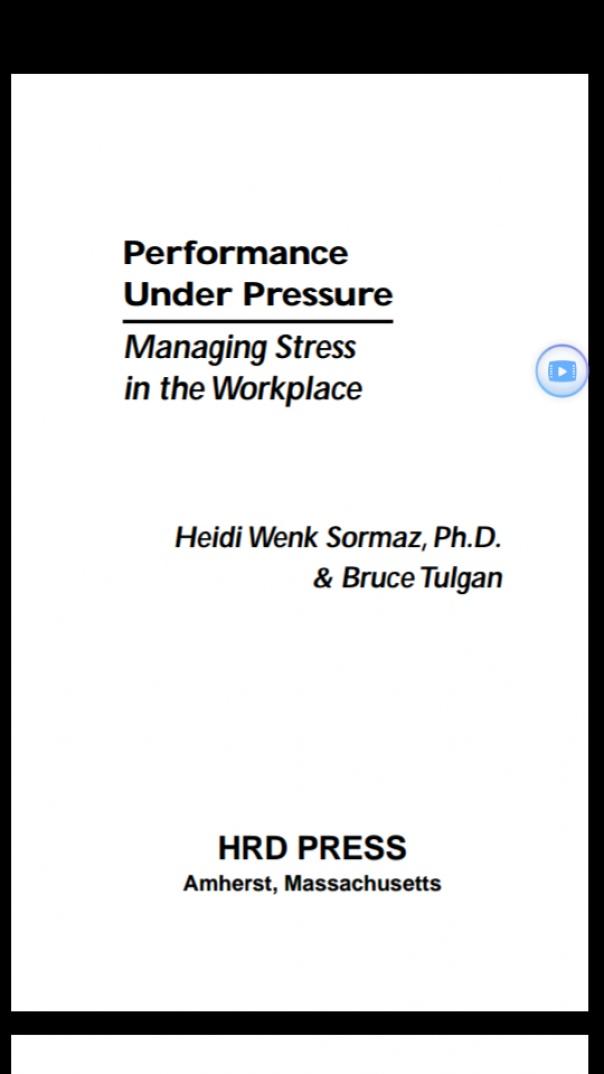 Performance under pressure
