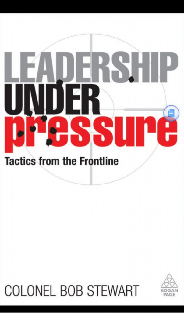 Leadership Under Pressure Tactics from frontline