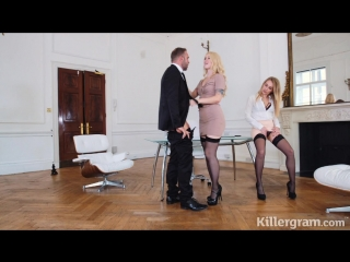 Misha cross & carmel anderson - office anal threesome [2018, anal, hardcore, ffm, stockings, blowjob, high heels, 720p]