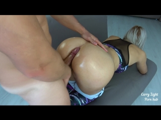 Carrylight-your favorite grinding in yoga pants with cumshot on ass