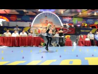 1 место Чемпионат Мира на роликовых коньках Фристайл-слалом - Богданова Софья, Фантастическая девочка