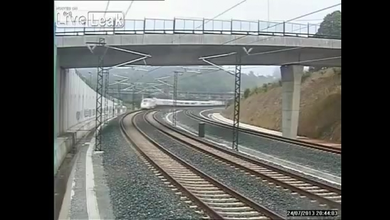 LiveLeakcom Spains Train Disaster Security Camera Footage Spanish train driver admitted to going too fast