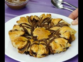 Быстрый пирог с шоколадной пастой