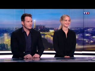Jennifer Lawrence and Chris Pratt interview for LCI's Le 20 Heures (starts at 26:51)