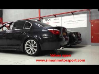 BMW e60 M5 with Frequency Intelligent (FI EXHAUST) valve controlled Exhaust