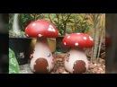 Como fazer cogumelos para decorar jardins