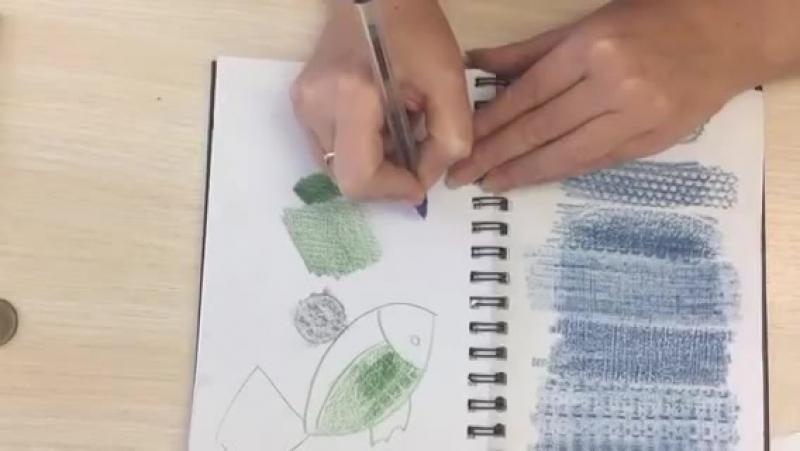 Фроттаж приём работы карандашом родом из детства