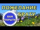 Пожелание брату c Днём рождения Видео поздравление св стихах