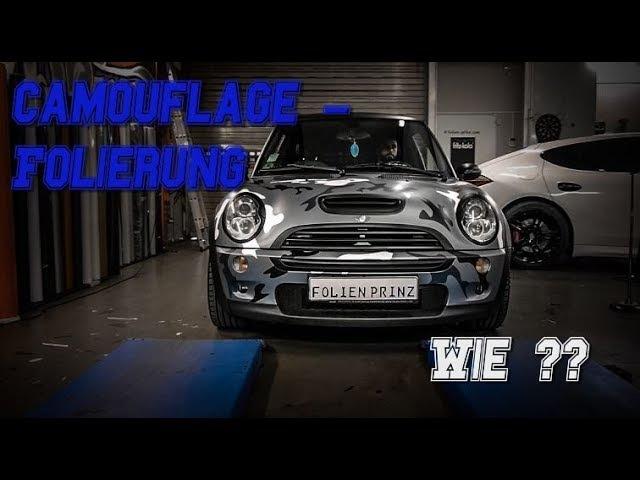 Camouflage Folierung Wie wird ein Auto in Camo foliert Mini Cooper S
