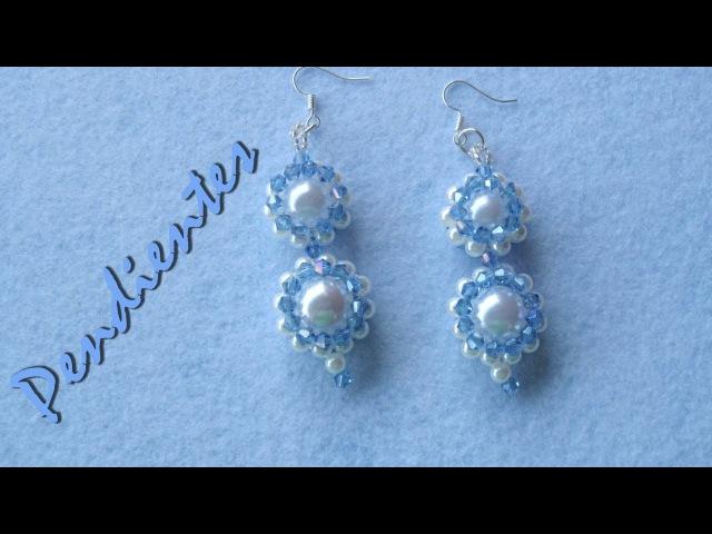 DIY tutorial pendientes perlas y tupis swarouski DIY pendientes perlas y tupis swarovski
