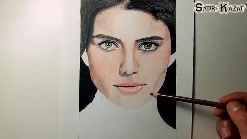 Beren saat renkli portre çizimim
