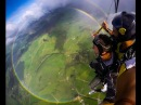 Skydiving Above a Double Full Circle Rainbow! FULL VIDEO