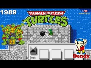 Черепашки Ниндзя Денди Полное прохождение TMNT Dendy Teenage Mutant Ninja Turtles NES Игра 90х