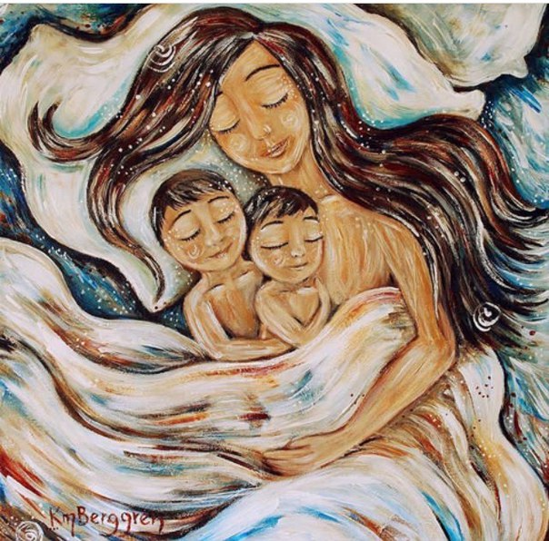 внимание, картинка мама с двумя сыновьями рисунок пересмотра