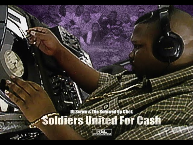 DJ Screw making a Screw tape (Screwed Chopped) VIDEO • Soldiers United for Cash (documentary)