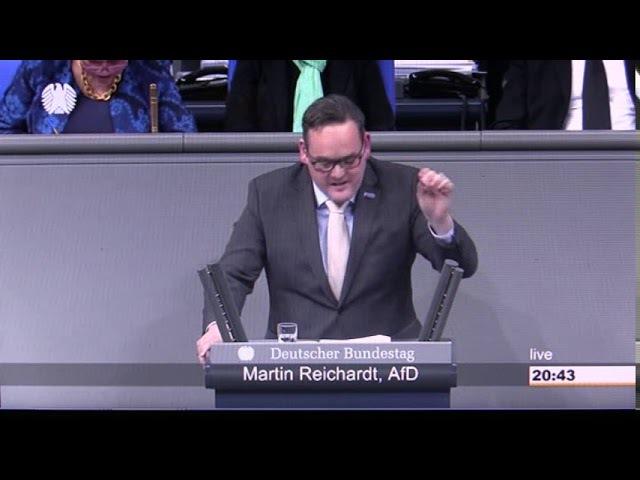 18.01.2018 Martin Reichardt AfD. Bei dieser Rede toben die Vertreter der Altparteien
