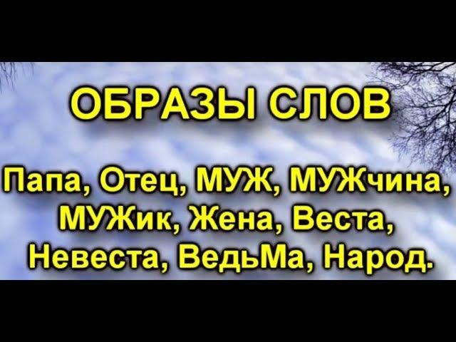 Образы слов Папа,Отец,Муж,Мужчина,Мужик,Веста,неВеста,Ведьма,Народ