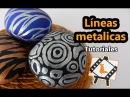 Pintura en piedras Líneas metalicas Tutorial