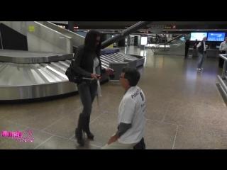 Mandy flores slave airport arrival public humiliation