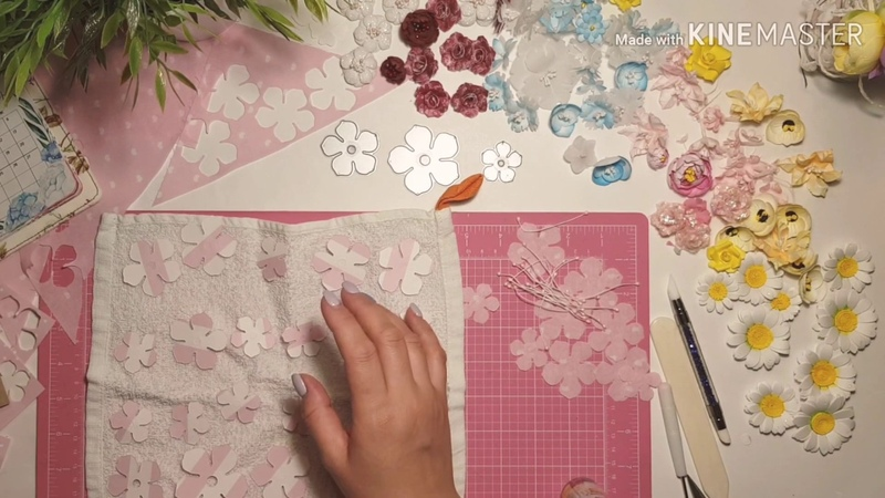 Скрапбукинг/цветы ручной работы/тканевые цветы/мастер класс цветы из бумаги