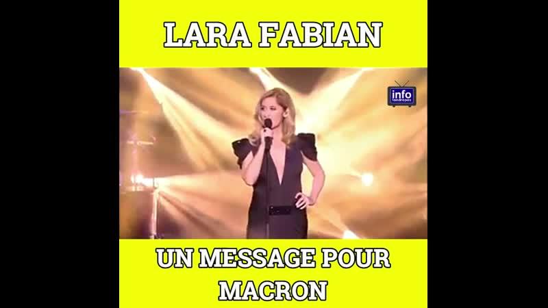 💥Lara Fabian Un message pour Marcron