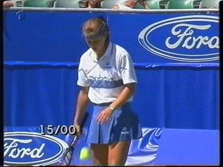 Anke Huber vs Barbara Schett; Monica Seles vs Iva Majoli AUSTRALIAN OPEN 1996