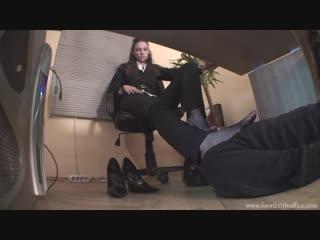 Goddess Maria Lara Женское доминирование раб для ног Фут-фетиш Foot Fetish Office