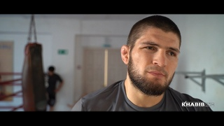 Khabib training in his native village during Ramadan