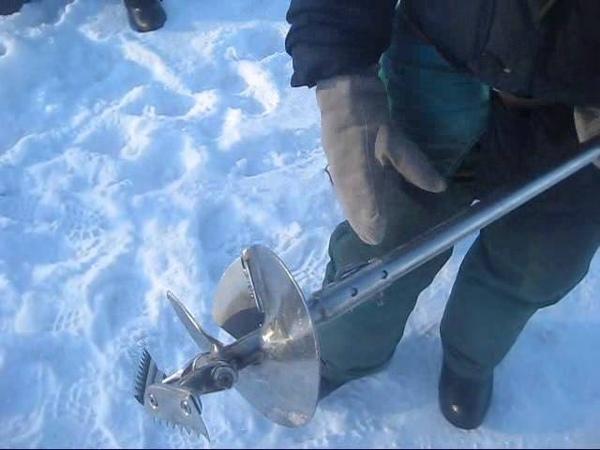 Бур рыбалки своими руками