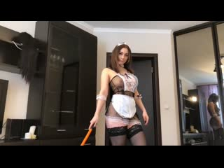 Lolly lips - сleaning lady instead of money gets a dick that suck and fuck