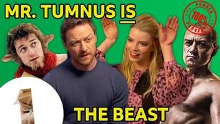 "Mr. Tumnus is The Beast?! James McAvoy & Anya Taylor-Joy on Glass's ""big twist"" 😉"
