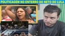Comício petista no enterro do Neto do Lula