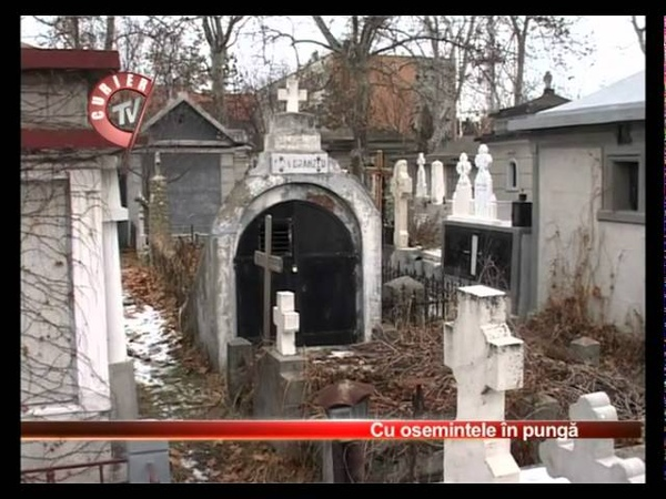 Mister in cimitirul Sfantul Gheorghe din Pitesti 24 01 2012