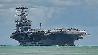 USS Nimitz (CVN 68) Arrives At Pearl Harbor - Hawaii