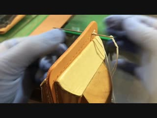 Hand Stitching Leather _ Part 2 _ Leather Craft _ Saddle Stitch