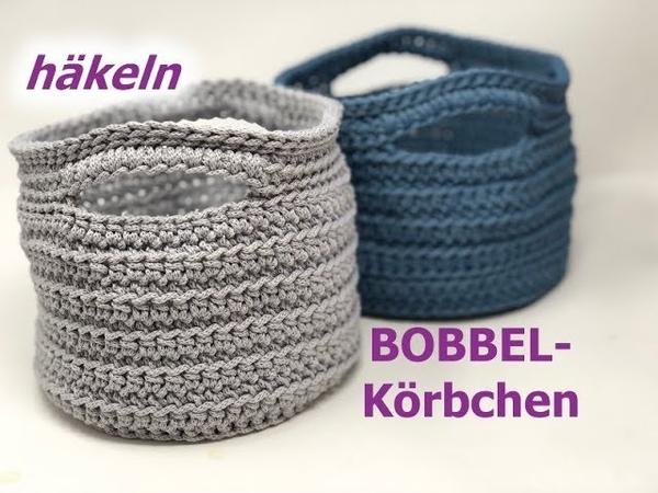 BOBBEL Körbchen Häkeln aus ROPE von Woolly Hugs Mit Veronika Hug