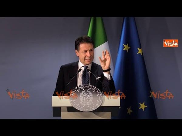 Conte: Non ho dovuto convincere né Salvini né Di Maio a scendere dal 2,4%