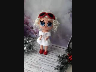 обзор вязаной куклы Лол