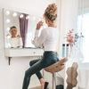 Гримерное зеркало с подсветкой|Столы для макияжа