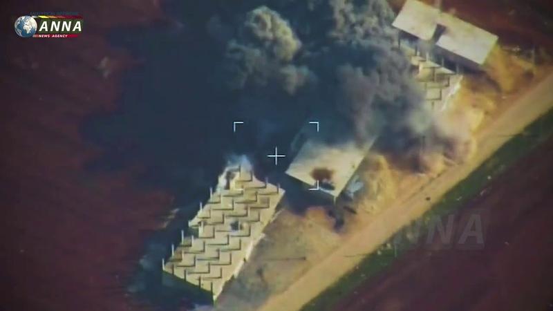Очередная нарезка от Anna-News авиаудары ВКС РФ по боевикам в Сирии