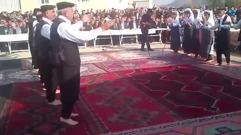 Qizilbash Zaza dance the Semah, a religious Alevi dance, in public Adiyaman, SE Turkey