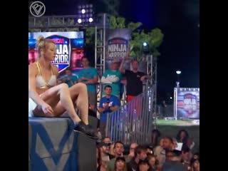 Американский воин ниндзя - Джесси Граф, первая девушка дошедшая до финала.