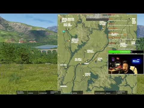Derail Valley Вечерний экспресс на паровозике на дизеле