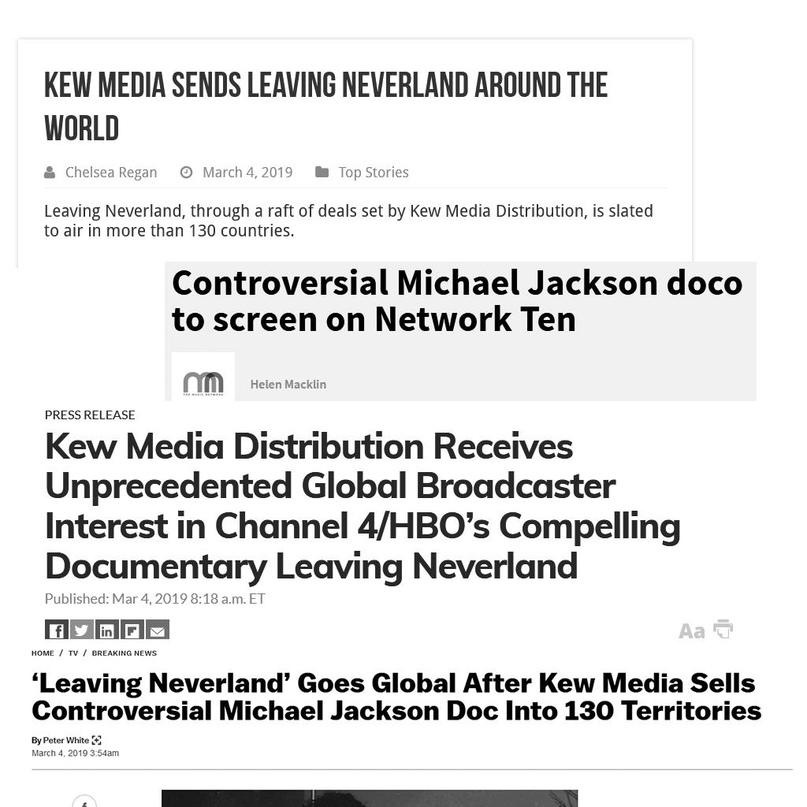 Как связаны Leaving Neverland и Kew Media Distribution (KMD)?, изображение №16