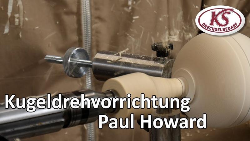 Kugeln drechseln mit dem Kugeldrehapparat von Paul Howard auf einer Stratos XL mit Untertitel